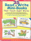 25 Read   Write Mini Books That Teach Sight Words