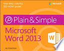Microsoft Word 2013 Plain   Simple