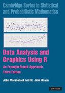 Data Analysis and Graphics Using R