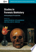 Studies in Forensic Biohistory