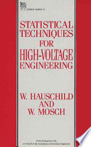 Statistical Techniques for High voltage Engineering