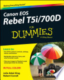 Canon EOS Rebel T5i 700D For Dummies
