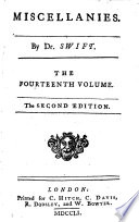 The Works of Dr. Jonathan Swift ...: Miscellanies