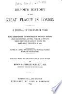Defoe s History of the Great Plague in London