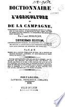 Dictionnaire de l agriculture et de la campagne