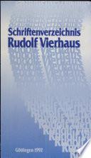 Schriftenverzeichnis Rudolf Vierhaus