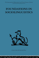 Foundations in Sociolinguistics