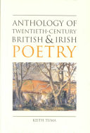 Anthology of Twentieth century British and Irish Poetry