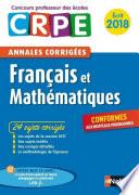 Ebook - Annales CRPE 2018 : Français Mathématiques