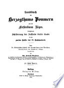 Landbuch des Herzogthums Pommern und des Fürstenthums Rügen