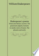 Shakespeare s poems