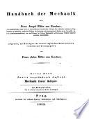 Handbuch der Mechanik