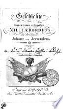 Geschichte des souverainen religiösen Militaerordens des heiligen Johann von Jerusalem