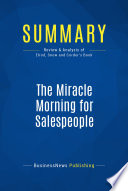 download ebook summary: the miracle morning for salespeople pdf epub
