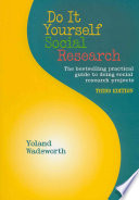 Do It Yourself Social Research  Third Edition