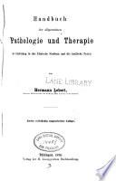 Handbuch der allgemeinen Pathologie und Therapie als Einleitung in das klinische Studium und die ärztliche Praxis