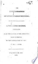 The Incorporation of Ohio Yearly Meeting  for the Purpose of Establishing a Boarding School Defended