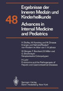 Ergebnisse Der Inneren Medizin Und Kinderheilkunde Advances In Internal Medicine And Pediatrics book
