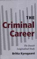 The Criminal Career