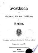 Postbuch Zum Gebrauch F R Des Publikum In Berlin