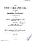 Bericht des Königlichen Christianeums zu Altona