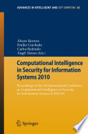 Computational Intelligence In Security For Information Systems 2010