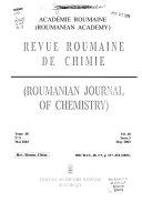 Revue Roumaine de Chimie