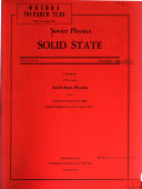 Soviet Physics  Solid State