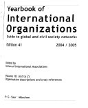 Yearbook of International Organizations 2004-2005