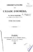 Observations sur l'Iliade d'Homère