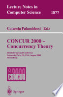 CONCUR 2000 - Concurrency Theory