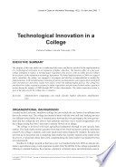 Technological Innovation in a College
