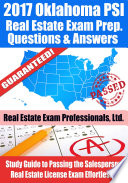 2017 Oklahoma PSI Real Estate Exam Prep Questions  Answers   Explanations