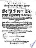Chronica der Freien Reichsstatt Speyer