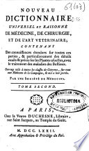 Nouveau dictionnaire universel et raisonn   de m  decine  de chirurgie  et de l art v  t  rinaire