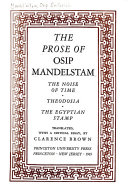 The Prose of Osip Mandelstam