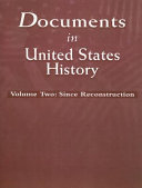 Documents in United States History  Since Reconstruction