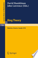 Ring Theory  Waterloo 1978
