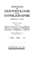 Annales de dermatologie et de syphiligraphie