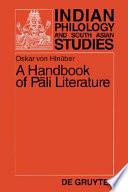 A Handbook of Pāli Literature