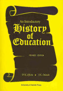 An Introductory History of Education Educational Theory And Practice In The Western
