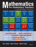 Mathematics for Elementary Teachers, Binder Ready Version