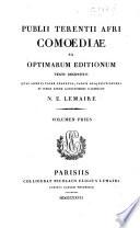 Publii Terentii Afri Comoediae ex optimarum editionum