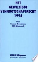 Het gewijzigde vennootschapsrecht 1995