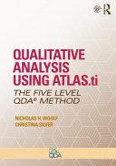Qualitative Analysis Using Atlas Ti Nvivo And Maxqda