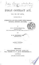 The Indian Contract Act  No  IX of 1872