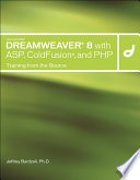 illustration Macromedia Dreamweaver 8 with ASP, Coldfusion and PHP