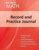 Red Record And Practice Journal