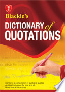 Blackie   s Dictionary of Quotations