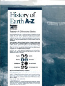 History Of Earth A Z  book